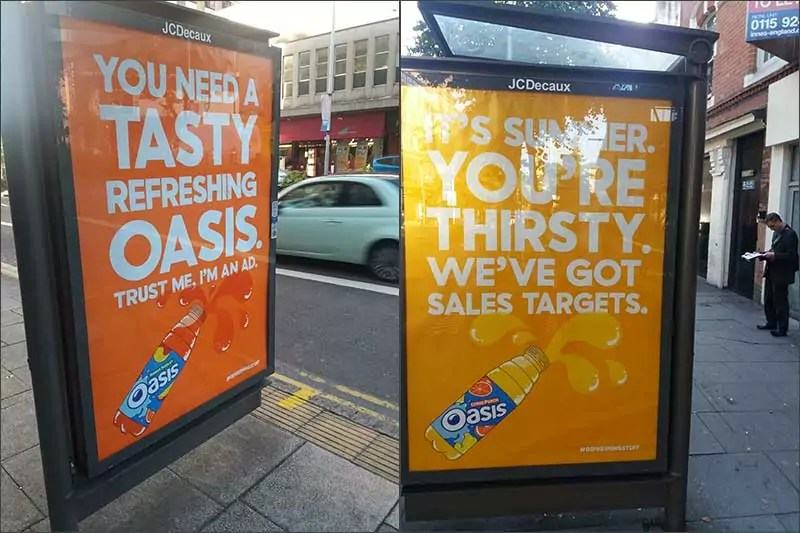 Oasis adverts, 2016