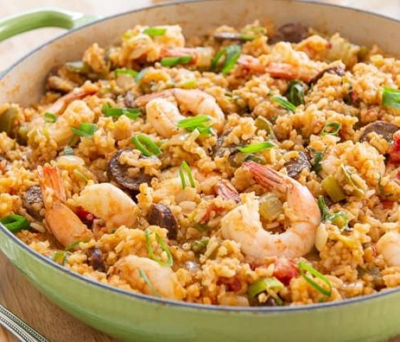 Jambalaya - Easy Jambalaya Recipe with Shrimp and Andouille Sausage