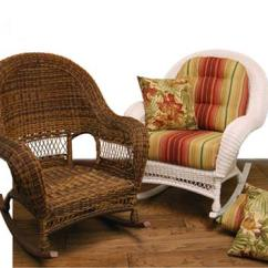 Wooden Rocking Chair Cushion Set Styles Of Chairs Wicker Domain Deep Seat W/ Cushions
