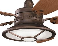 """52"""" Weathered Copper Powder Coat Harbor Bay Patio Ceiling Fan"""