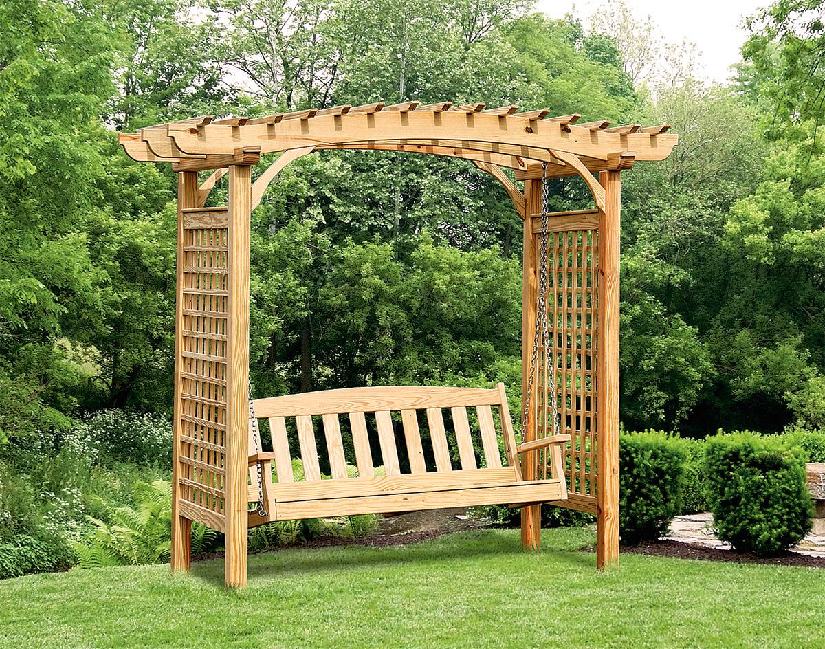 Delicieux Wooden Garden Swing Arbor