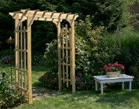 Treated Pine Rose Arbor Pergola