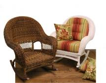Wicker Domain Deep Seat Rocking Chair With Cushions