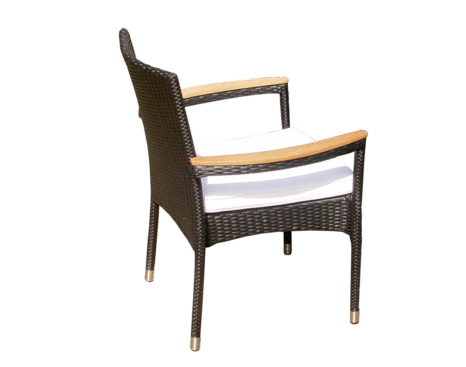 dining table chair covers target armless chaise lounge 48 quot black wicker and stacking set