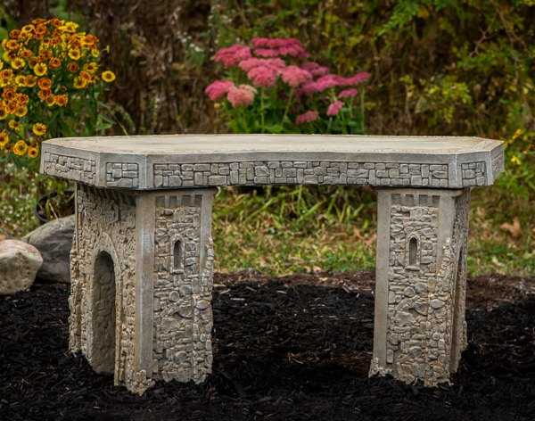 48 Concrete Curved Garden Bench Year of Clean Water