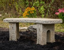 "48"" Concrete Curved Garden Bench"
