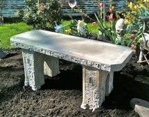 """40"""" Concrete Garden Bench"""