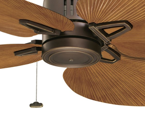 Palm Leaf Ceiling Fans with Blades
