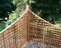 Red Cedar Lattice Corner Fencing