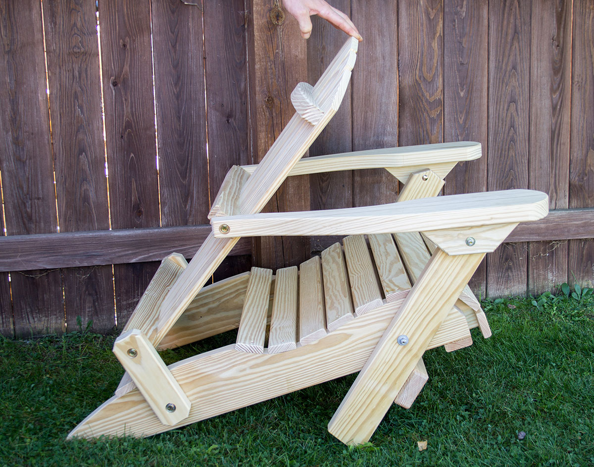 Treated Pine Folding Adirondack Chair