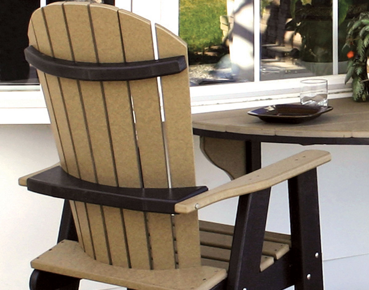 half circle chair philippe starck ghost black poly lumber round table w 2 balcony chairs