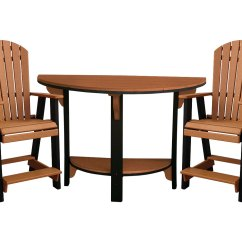 Half Circle Chair Lift London Poly Lumber Round Table W 2 Balcony Chairs