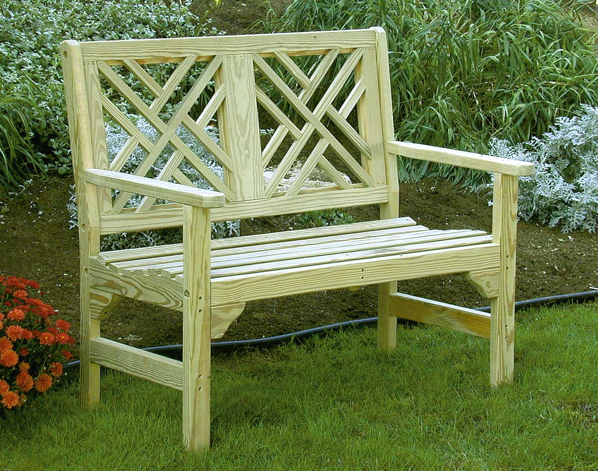 46 Treated Pine Chippendale Garden Bench