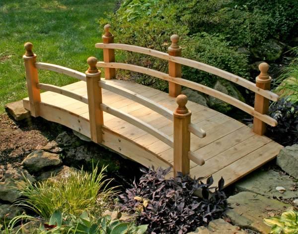 Red Cedar Camelot Double Rail Bridge