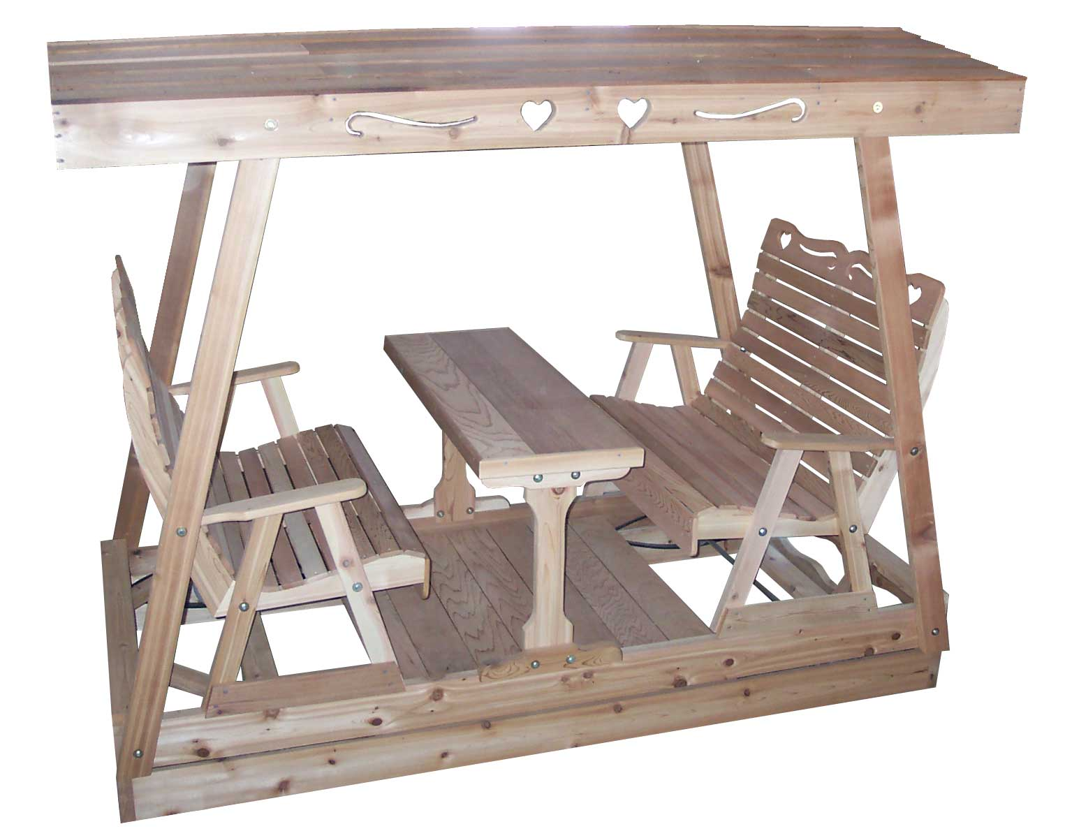 swing chair plan desk chairs staples red cedar carriage roller glider