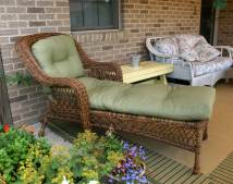 Wicker Sands Chaise Lounge With Cushions