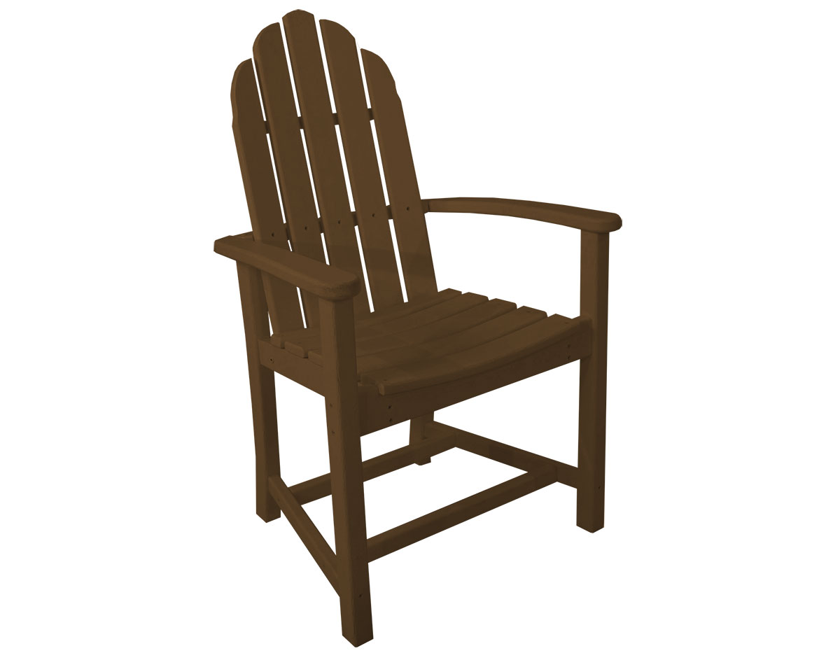 polywood classic adirondack chair countertop tables and chairs dining