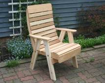 Red Cedar Royal Highback Patio Chair