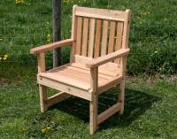 Garden Chair ZENO Oak Folding Garden Chair