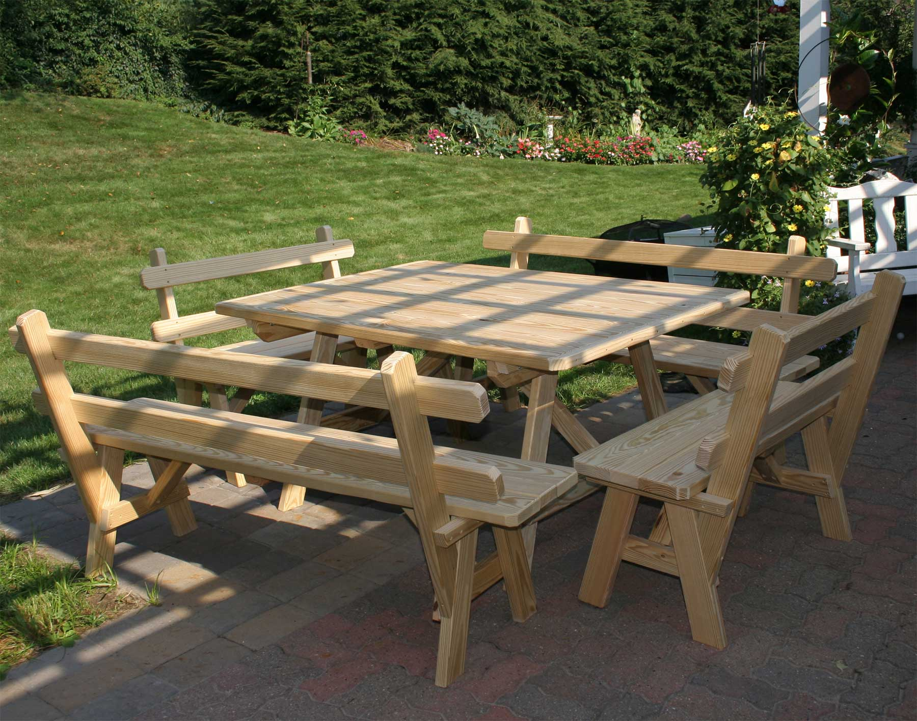 Picnic Table Style Kitchen Table