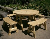 Treated Pine Round Picnic Table