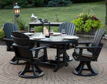 Poly Lumber 5 Pc.swivel Rocker Dining Set