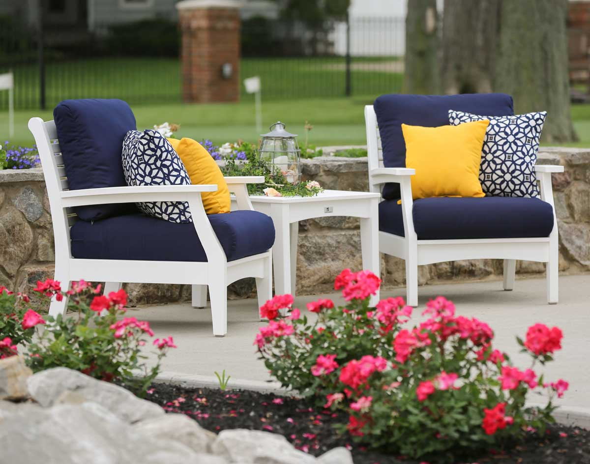 Poly Lumber Classic Terrace Chair wSunbrella Cushions
