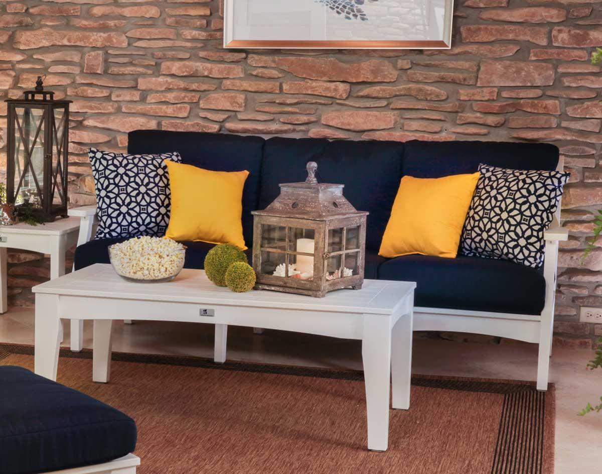 Poly Lumber Classic Terrace Sofa wSunbrella Cushions
