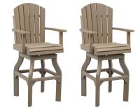 Poly Lumber Adirondack Swivel Bar Chair - Set of 2