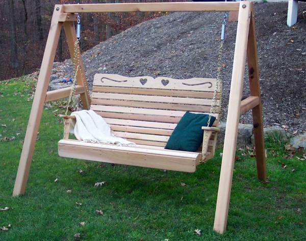 Red Cedar Royal Sweetheart Highback Porch Swing