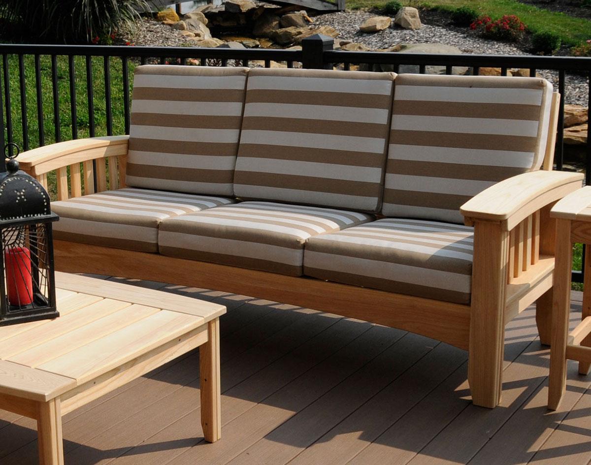 black mission style sofa table restaurant sofas cypress w sunbrella cushions