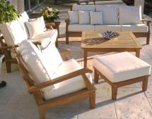 Teak Port Sofa With Cushions