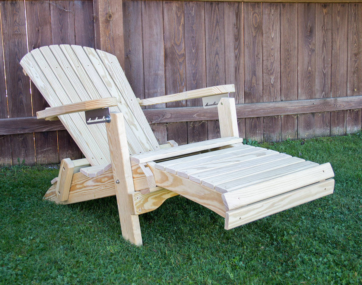 folding chairs with footrest reupholster rocking chair treated pine adirondack w
