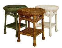 Wicker Sands Round End Table