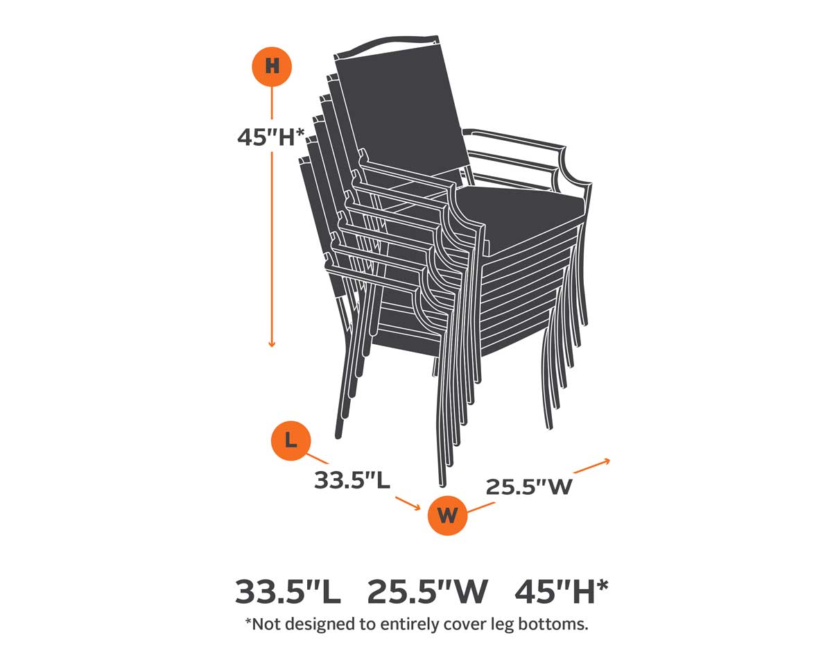 Terrace Elite Stackable 6 Chairs Cover