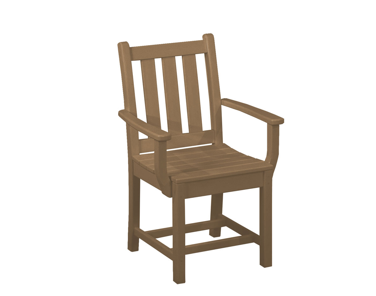 POLYWOOD Traditional Dining Arm Chair  Set of 2