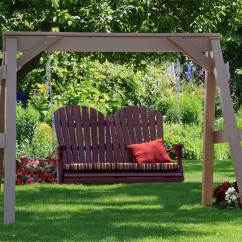 Adirondack Chairs Made In Usa Chair Covers Wilko Vinyl A-frame Swing Stand