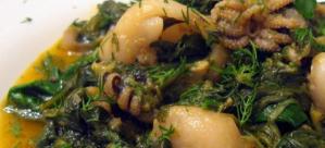 Σουπιές με σπανάκι (με το μελάνι τους)