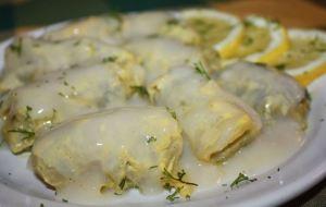 Λαχανοντολμάδες με κρέμα αβγολέμονο