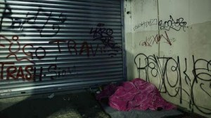 Οι άστεγοι στο κέντρο της Αθήνας