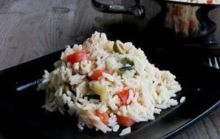 Ρύζι με κάπαρη και ελιές