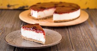 Cheesecake φράουλας