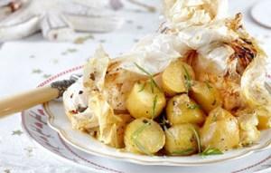 Πατάτες μουσταρδένιες με βότανα
