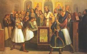 Σαν σήμερα έπεσε η πρώτη τουφεκιά της Επανάστασης του '21 – Οι Έλληνες επαναστάτες καταλαμβάνουν τα ΚαλάβρυταΗ πρώτη τουφεκιά της Ελληνικής Επανάστασης έπεσε στις 21 Μαρτίου 1821 στα Καλάβρυτα… 600 ένοπλοι αγωνιστές, με επικεφαλής τους Σωτήρη Χαραλάμπη (1760-1826), Ασημάκη Φωτήλα (1761-1835), Σωτήρη Θεοχαρόπουλο (?-1854), Ιωάννη Παπαδόπουλο, Νικόλαο Σολιώτη (?-1841), Βασίλειο (1785-1872) και Νικόλαο (1790-1865) Πετμεζά εισήλθαν στα Καλάβρυτα και πολιόρκησαν τους Τούρκους, που είχαν καταφύγει σε τρεις οχυρούς πύργους.  Τις προηγούμενες μέρες είχαν φτάσει στα αφτιά των Τούρκων της περιοχής πληροφορίες για επαναστατικές κινήσεις των ραγιάδων. Από τις αρχές Μαρτίου είχαν πραγματοποιηθεί πολλές μεμονωμένες επιθέσεις κατά υπαλλήλων της Οθωμανικής διοίκησης, ενώ στις 10 ή στις 13 Μαρτίου πραγματοποιήθηκε μία σημαντική σύσκεψη στο μοναστήρι της Αγίας Λαύρας για την έναρξη της Επανάστασης, με τη συμμετοχή του Παλαιών Πατρών Γερμανού.  Οι φόβοι των Τούρκων μεγάλωσαν ακόμη περισσότερο, όταν άνθρωποι του βοεβόδα (διοικητή) των Καλαβρύτων, Ιμπραήμ Αρναούτογλου, χτυπήθηκαν από τους Πετμεζαίους καθ' οδόν προς την Τριπολιτσά.  Έτσι, ο Αρναούτογλου διέταξε τους Τούρκους της περιοχής να κλεισθούν στους οχυρούς πύργους των Καλαβρύτων και να αμυνθούν, ελπίζοντας σε βοήθεια από την Οθωμανική διοίκηση της Τριπολιτσάς. Μαζί του είχε και την κόρη του Αϊσέ, που σύμφωνα με την παράδοση ήταν ερωτευμένη με τον γιο του Ασημάκη Φωτήλα, Παναγιωτάκη (1800-1824).  Οι Έλληνες επαναστάτες εξόρμησαν από το μοναστήρι της Αγίας Λαύρας.  Σύμφωνα με τον ιστορικό Διονύσιο Κόκκινο, πήραν μαζί τους ένα παλιό κανόνι και με σημαία τη χρυσοκέντητη εικόνα της Κοιμήσεως της Θεοτόκου, επέδραμαν κατά των Καλαβρύτων. Πολιόρκησαν επί πενθήμερο τους Τούρκους και τους ανάγκασαν να παραδοθούν.  Οι απώλειες των Ελλήνων ήταν 2 νεκροί και 3 τραυματίες, μεταξύ αυτών και ο Νικόλαος Σολιώτης. Αδιευκρίνιστες ήταν οι απώλειες για τους πολιορκουμένους Τούρκους, αφού πολλοί από αυτούς κατεσφάγησαν, αν και είχαν παραδοθεί. Οι επαν