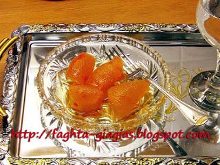 Πορτοκάλι φλούδες γλυκό του κουταλιού
