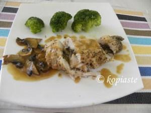 Στήθος Κοτόπουλο γεμιστό με Μανιτάρια