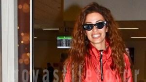 Θερμή υποδοχή για την Ελένη Φουρέιρα στο αεροδρόμιο «Ελευθέριος Βενιζέλος»