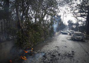 «μέσα σε μισή ώρα είχε κατακαεί ο Νέος Βουτζάς από την κορυφή, με τις φλόγες να σαρώνουν τα πάντα στην πλαγιά που βρίσκεται ο οικισμός».