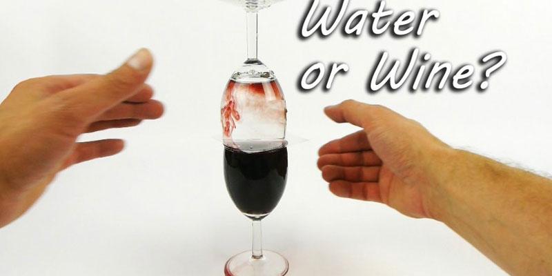 νερό σε κρασί!