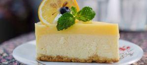 Cheesecake λεμόνι με γιαούρτι